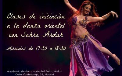 Clase de iniciación a la danza oriental con Sahra Ardah