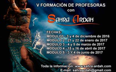 V Formación de Profesoras  con Sahra Ardah
