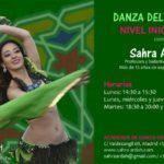 cartel de clases danza del vientre