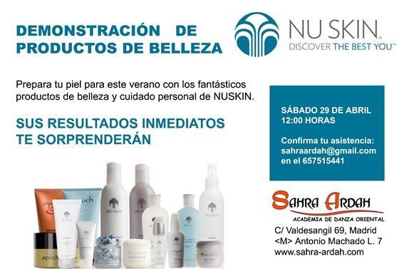 Demostración de productos de belleza  NUSKIN