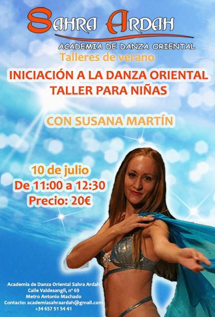 Taller de verano iniciación a la danza oriental taller para niñas
