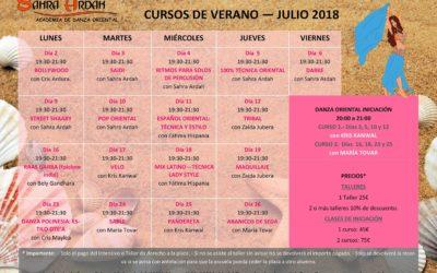 Cursos de verano- Julio 2018