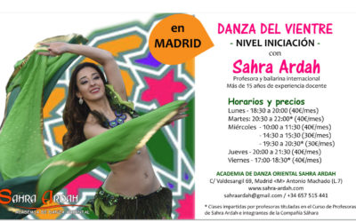 Clases de Danza Oriental INICIACIÓN en Madrid